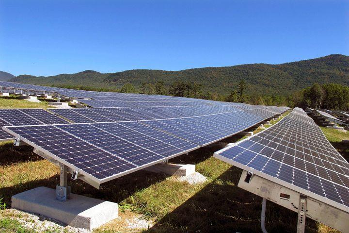 Solar panels in Rutland, Vermont.