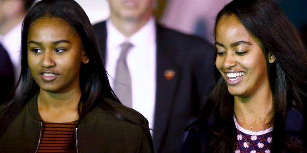 Sasha et Malia Obama à Buenos Aires le 23 mars