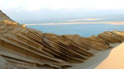 Le froid et le vent ont redessiné la dune du Pilat et c'est