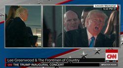 Trump a eu l'air de bien s'amuser pendant son concert
