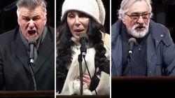 Baldwin, De Niro, Cher et des milliers de New-Yorkais dans la rue pour lancer