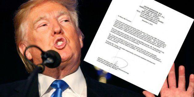 Donald Trump a-t-il écrit lui-même son certificat