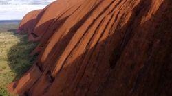 Une vidéo vue du ciel à couper le souffle pour la roche australienne