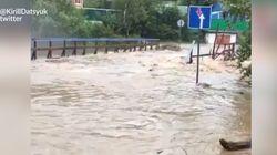 Les images du typhon Lionrock qui a fait de nombreuses victimes au