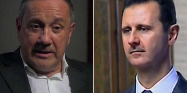 Firas Tlass et Bachar al-Assad dans le documentaire d'Antoine