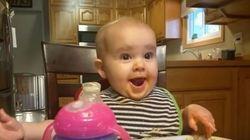 Ce bébé a un rire de grand méchant de