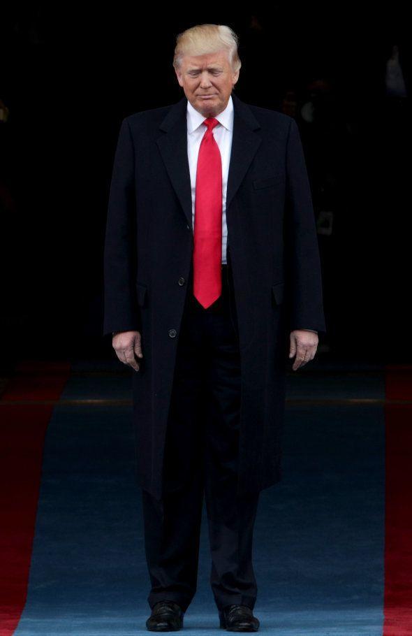 Donald Trump arrive au Capitole, le 20