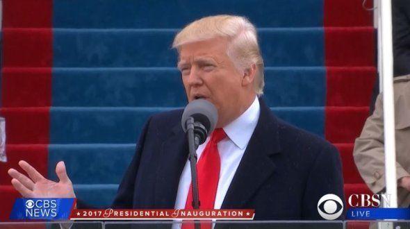 Donald Trump donne son discours d'investiture, le 19