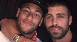 Dans ce tweet, Piqué assure que Neymar reste au