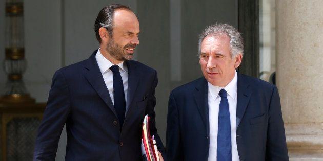 Edouard Philippe et François Bayrou à l'Elysée le 31 mai