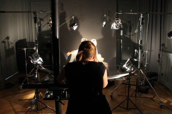 Pour les Journées du patrimoine, nous avons suivi deux médaillées olympiques en shooting dans les studios