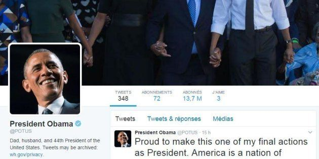 Les comptes Twitter de la Maison Blanche ont changé de