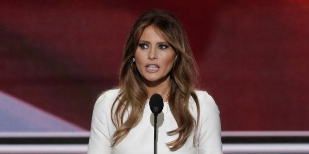 Melania Trump, wife of Republican presidential candidate Donald Trump, speaks at the Republican National...