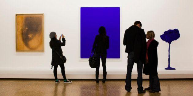 France, Paris, Centre Georges Pompidou, art gallery interior,