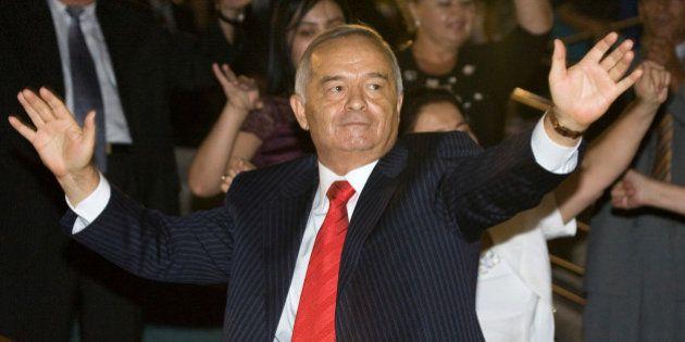 FILE PHOTO - Uzbekistan's President Islam Karimov dances during Independence Day celebrations in Tashkent...