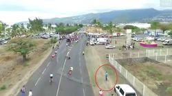 Spectateur sur une course cycliste, il avait causé volontairement une chute violente et explique