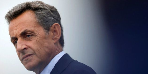 Nicolas Sarkozy, former head of the Les Republicains political party, attends Les Republicains LR political...