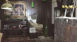 Les images des pièces où ont pu se réfugier des survivants de l'avalanche en