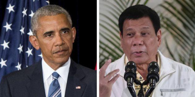 Barack Obama annule sa visite avec le président philippin Rodrigo Duterte qui l'a traité de