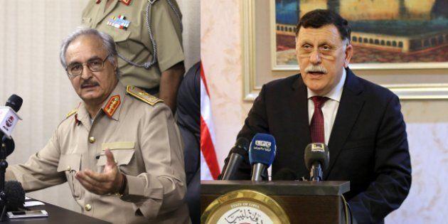 Qui sont Fayez al-Sarraj et le maréchal Haftar, ennemis libyens, que Macron va tenter de
