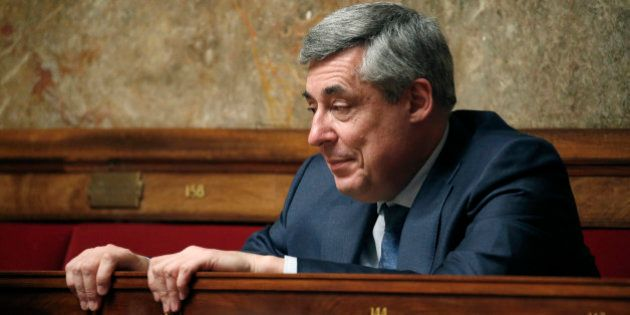 French UMP political party deputy Henri Guaino attends the questions to the government session at the...