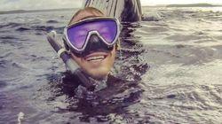 Un selfie avec une baleine comme photo de