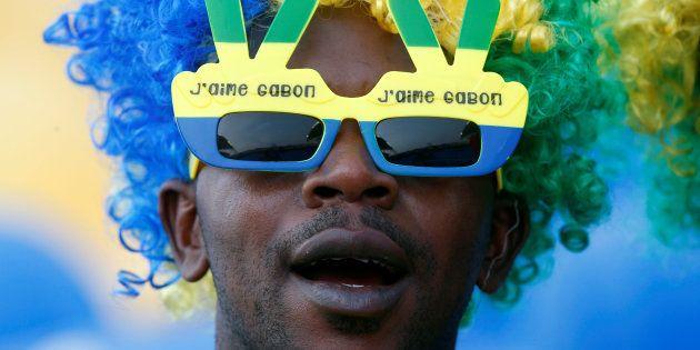Un supporteur du Gabon au Stade de l'Amitié, Libreville, Gabon, le 14 janvier 2017. REUTERS/Mike
