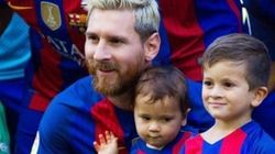 Thiago Messi, 3 ans et demi, nouveau joueur du