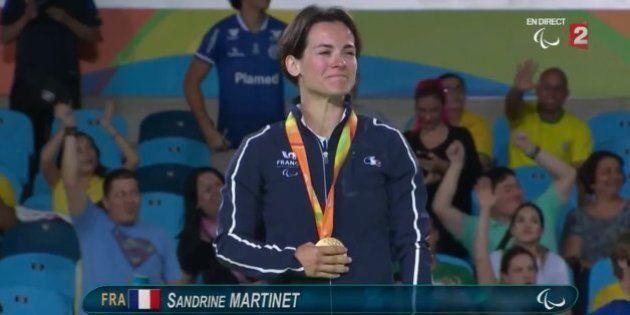 La judokate Sandrine Martinet offre la première médaille d'or à la France aux Jeux paralympiques de