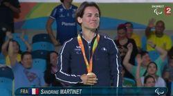 Sandrine Martinet offre à la France sa 1ère médaille d'or aux