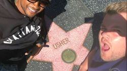 Quand il passe sur Hollywood Boulevard, Usher nettoie lui-même son