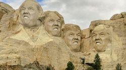 Donald Trump sur le mémorial du Mont Rushmore, une blague qui devient (presque)
