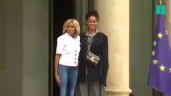 Les images de l'arrivée de Rihanna à