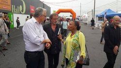Christiane Taubira en visite surprise à la Fête de