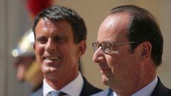 Légère embellie pour Hollande et Valls au mois de