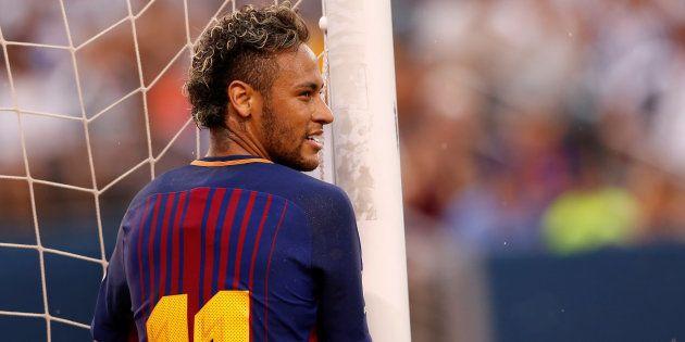 Neymar lors de Barça-Juventus dans le New Jersey le 22 juillet