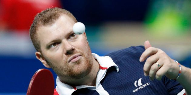 2016 Rio Paralympics - Table Tennis - Final - Men's Singles Class 2 Gold Medal Match Final - Riocentro...