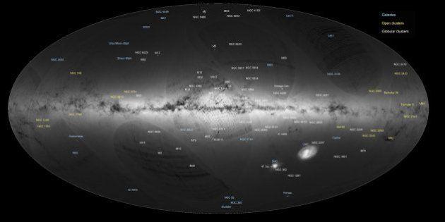 Cartographie record d'un milliard d'étoiles localisées par le satellite européen
