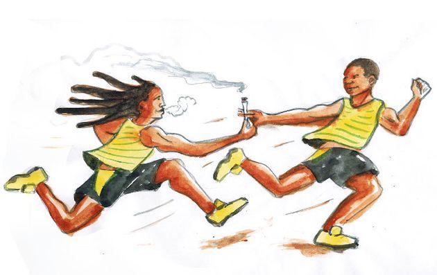 Le relais jamaïcain 4X100 mètres disqualifié des JO 2008 pour cause de dopage, Usain Bolt perd une médaille