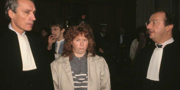 Murielle Bolle et son avocat dans la Cour d'assises de Dijon, le 3 décembre