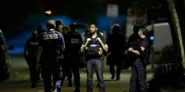 French policemen take part in a police raid in Boussy-Saint-Antoine near Paris, France, September 8,...