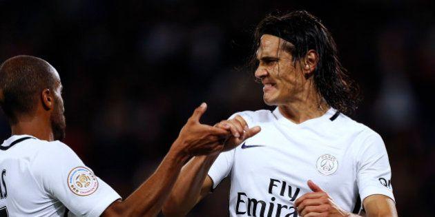 Regardez les quatre buts d'Edinson Cavani lors de la raclée infligée par le PSG à Caen