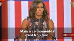 Sans le nommer, Michelle Obama envoie coups sur coups à Donald