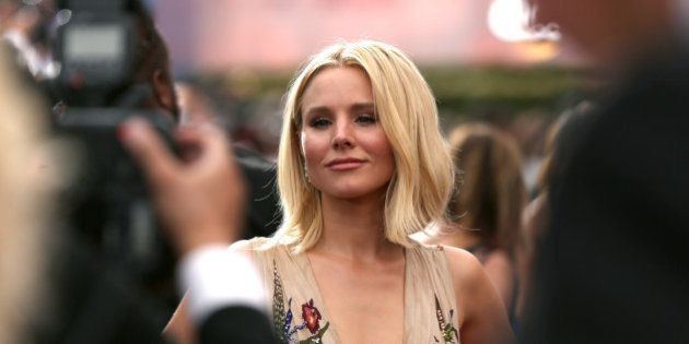 Kristen Bell arrives at the 68th Primetime Emmy Awards on Sunday, Sept. 18, 2016, at the Microsoft Theater...