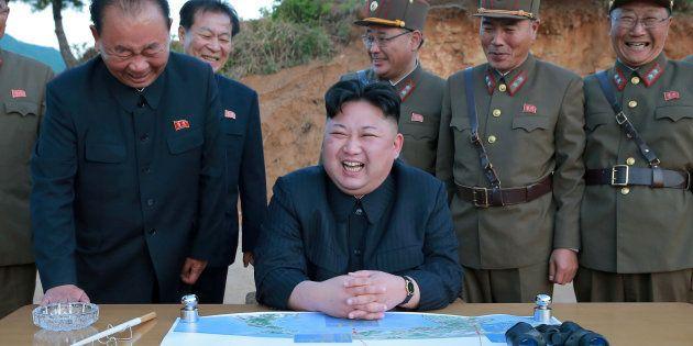 Kim Jong-Un sur une photo non datée, diffusée par l'agence de presse officielle KCNA le 15