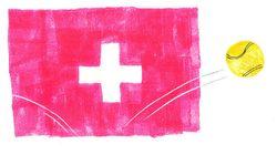 Le pull rose de Mirka Federer n'est pas passé