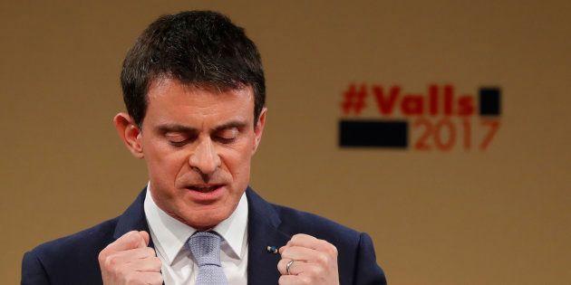 Manuel Valls, lors de son dernier meeting avant le second tour de la primaire de la