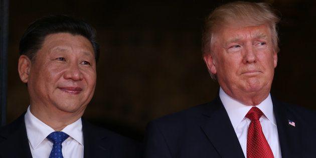Donald Trump et Xi Jinping à Mar-a-Lago, en Floride, le 6