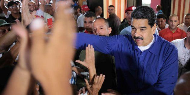 Le président vénézuélien Nicolas Maduro à Caracas, le 29 juillet