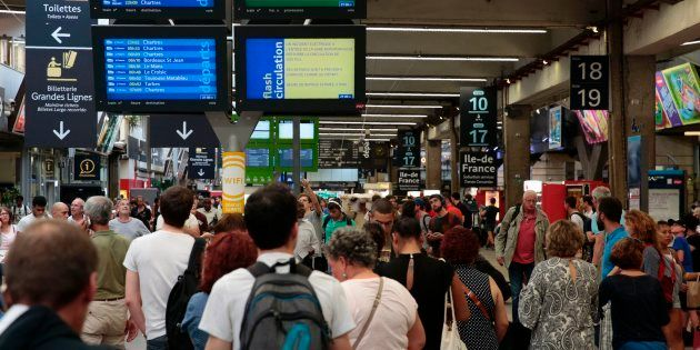 Trafic interrompu à la gare SNCF de Paris-Montparnasse (Image